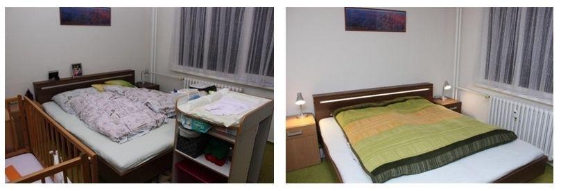 rozdíl vdojmech pouklizení ložnice