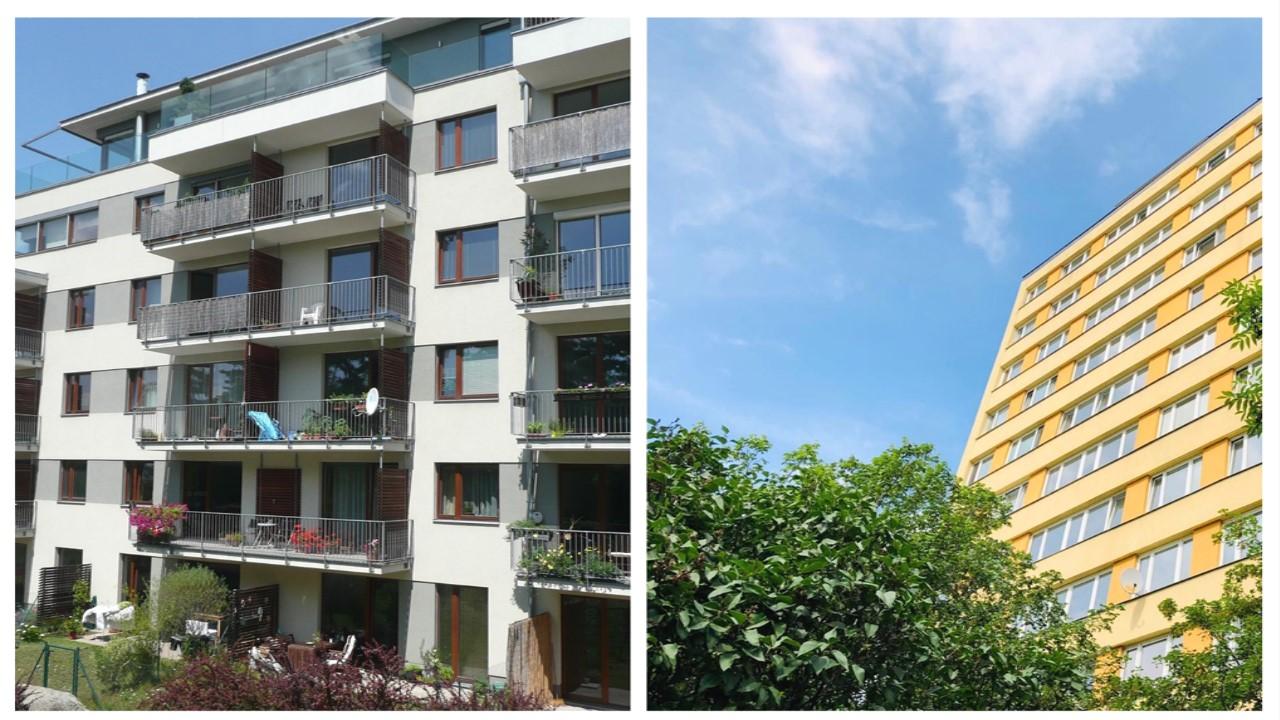 panelový byt nebo cihlový byt
